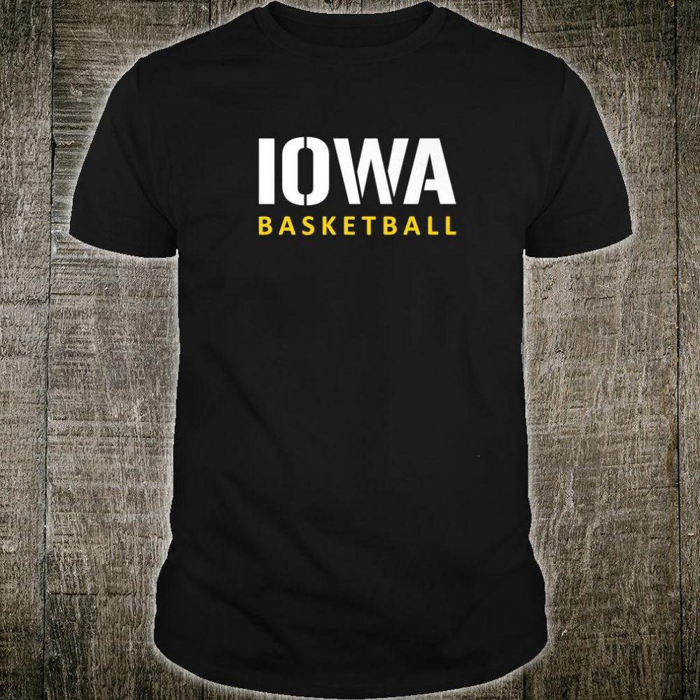 Iowa Basketball Block Style Shirt