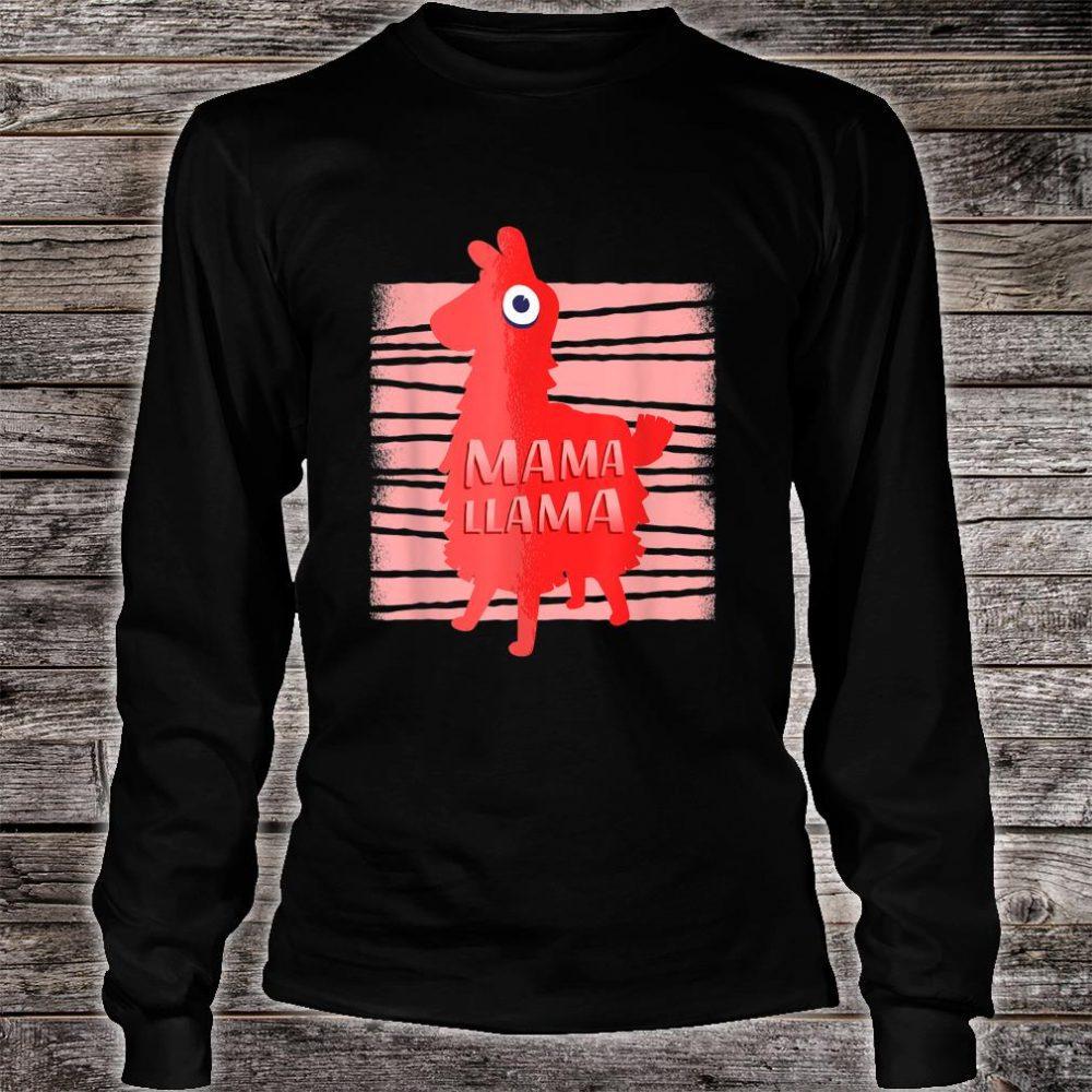 Llama for Moms Who Love Llamas Mama Llama Shirt long sleeved