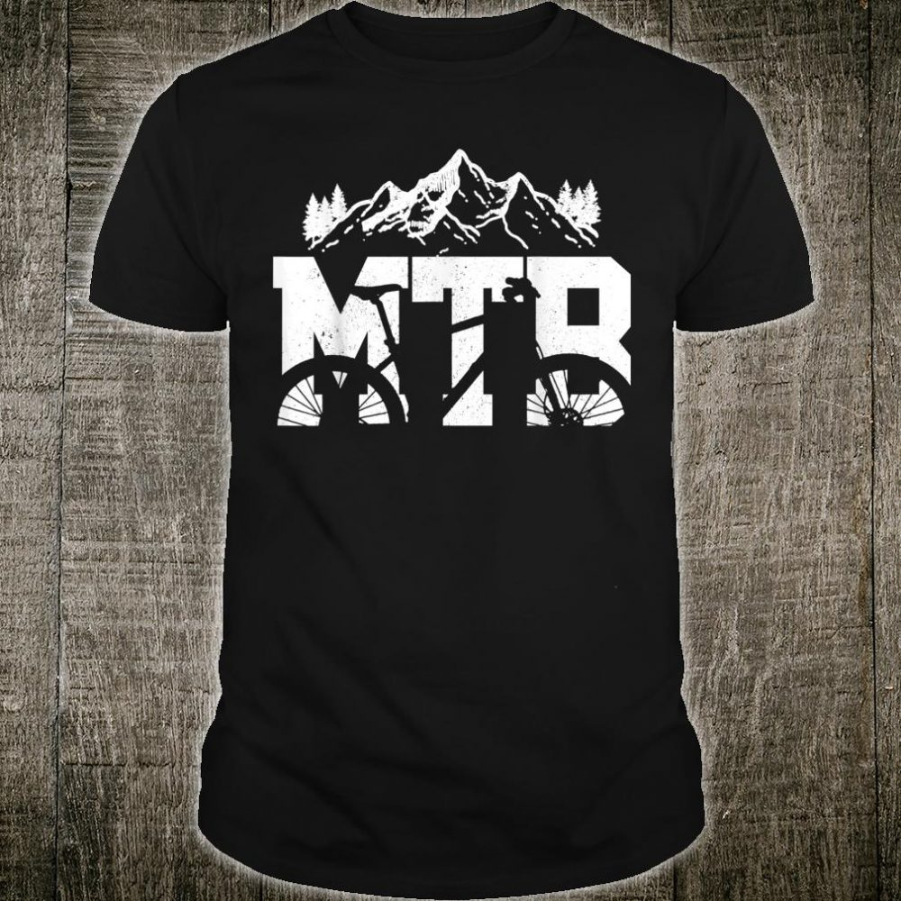 MTB Mountain Bike Bicycle Mountain Biking Biker Shirt