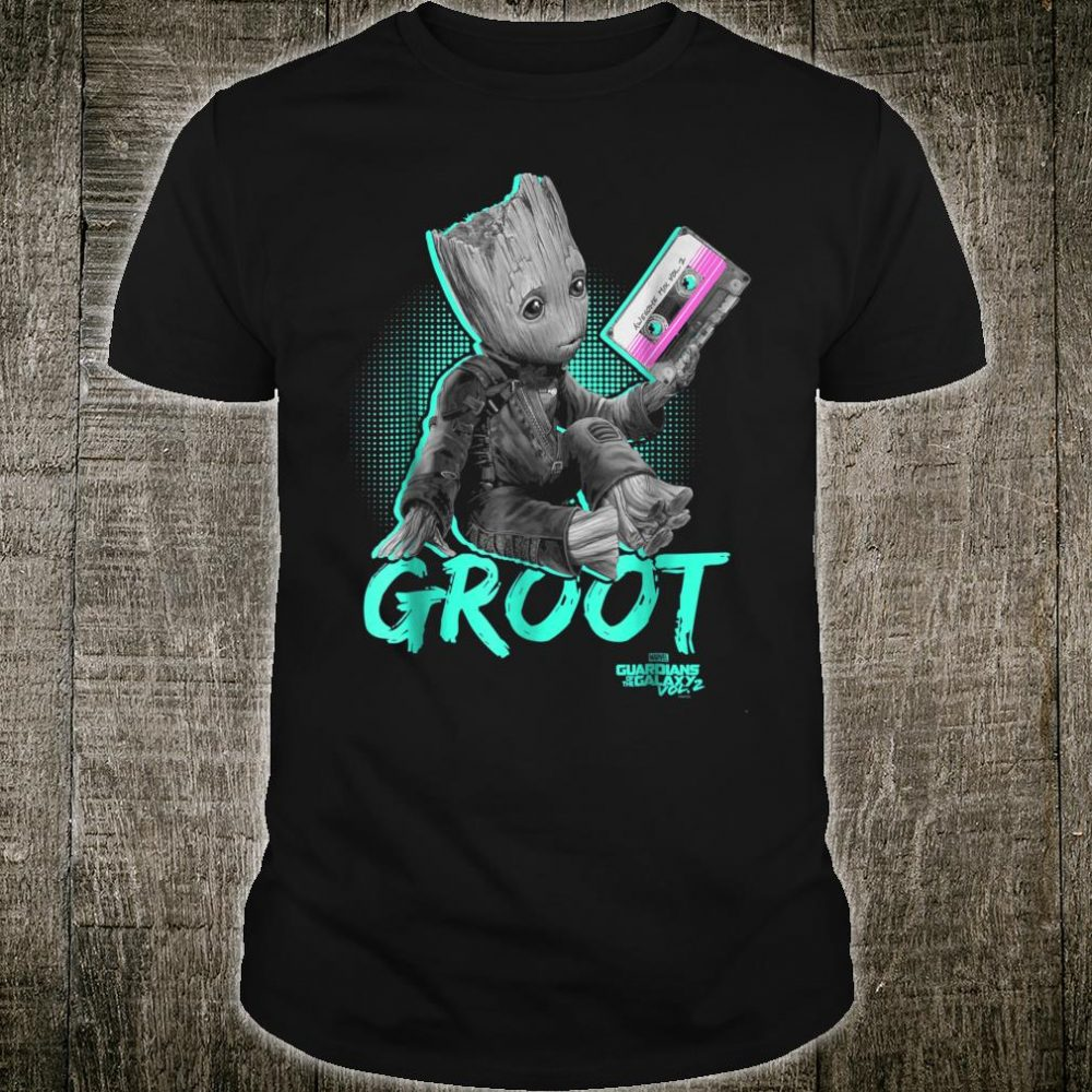 Marvel Guardians Vol. 2 Baby Groot Neon Tape Shirt