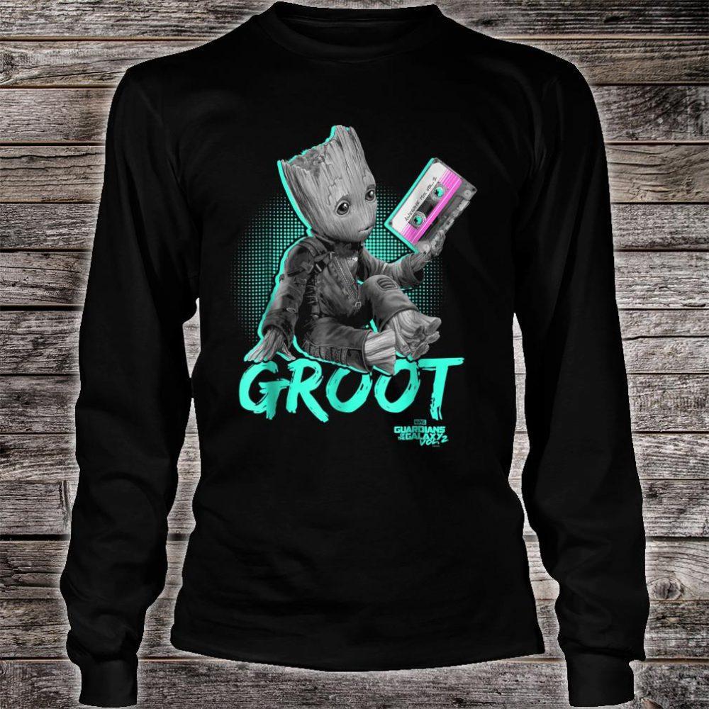 Marvel Guardians Vol. 2 Baby Groot Neon Tape Shirt long sleeved
