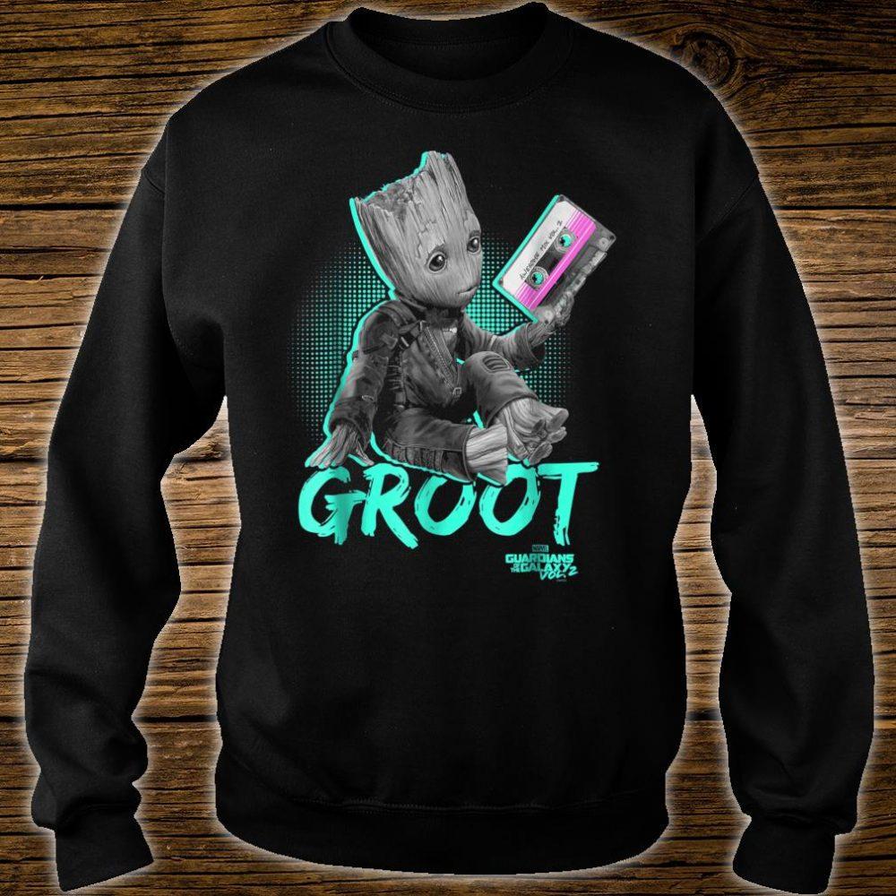 Marvel Guardians Vol. 2 Baby Groot Neon Tape Shirt sweater