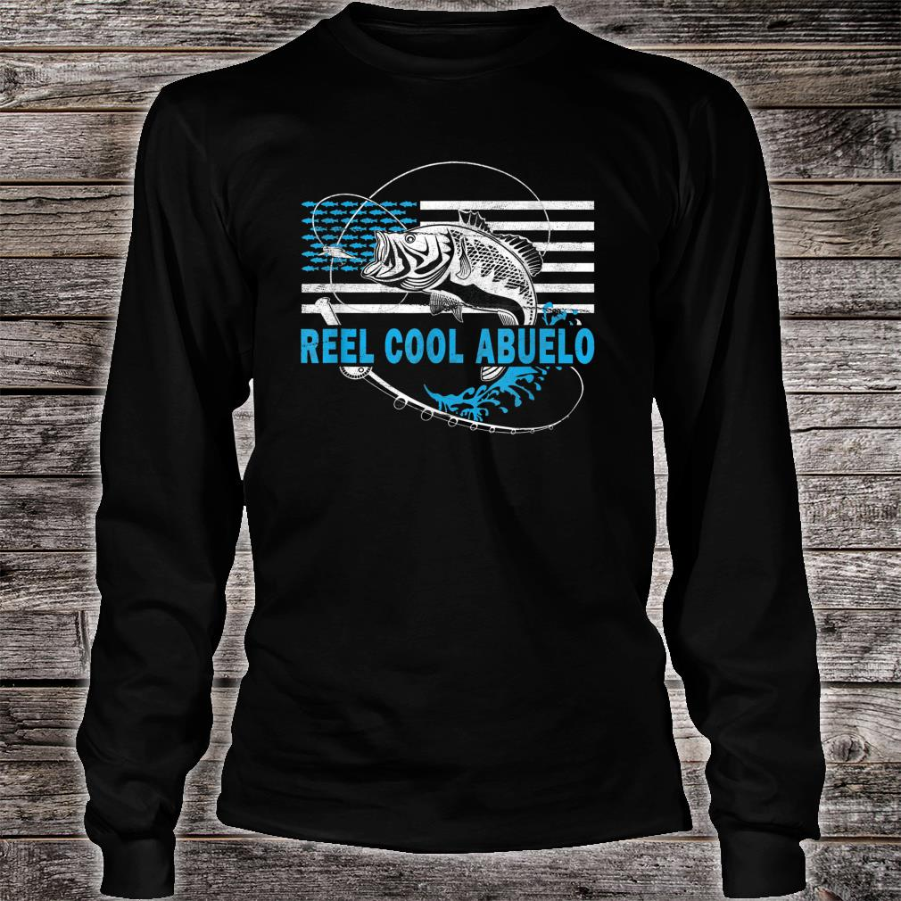 Mens Reel Cool Abuelo Fishing for grandfather Shirt long sleeved