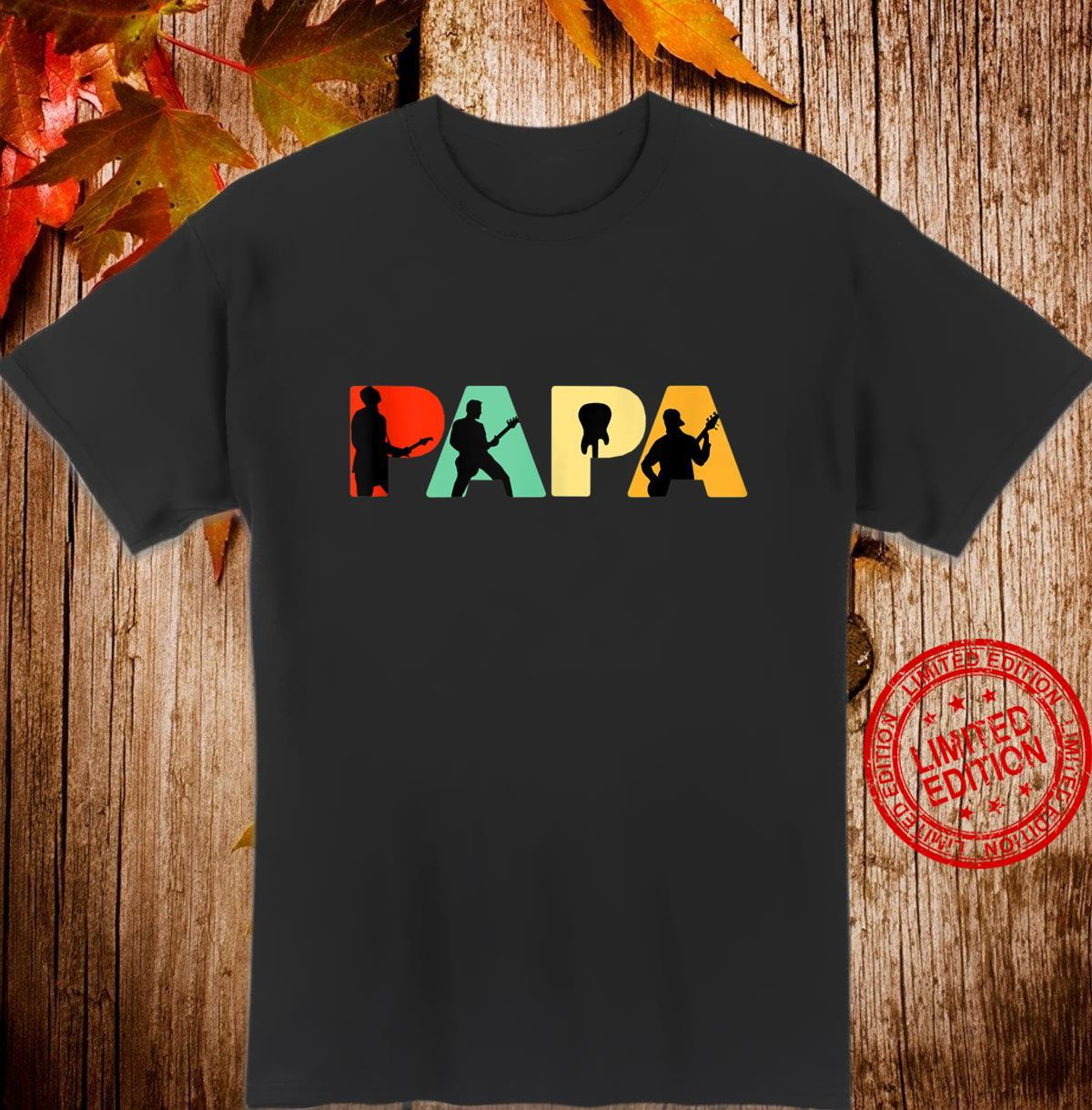 Mens Retro Bass Dad, Vintage Papa Bass Shirt