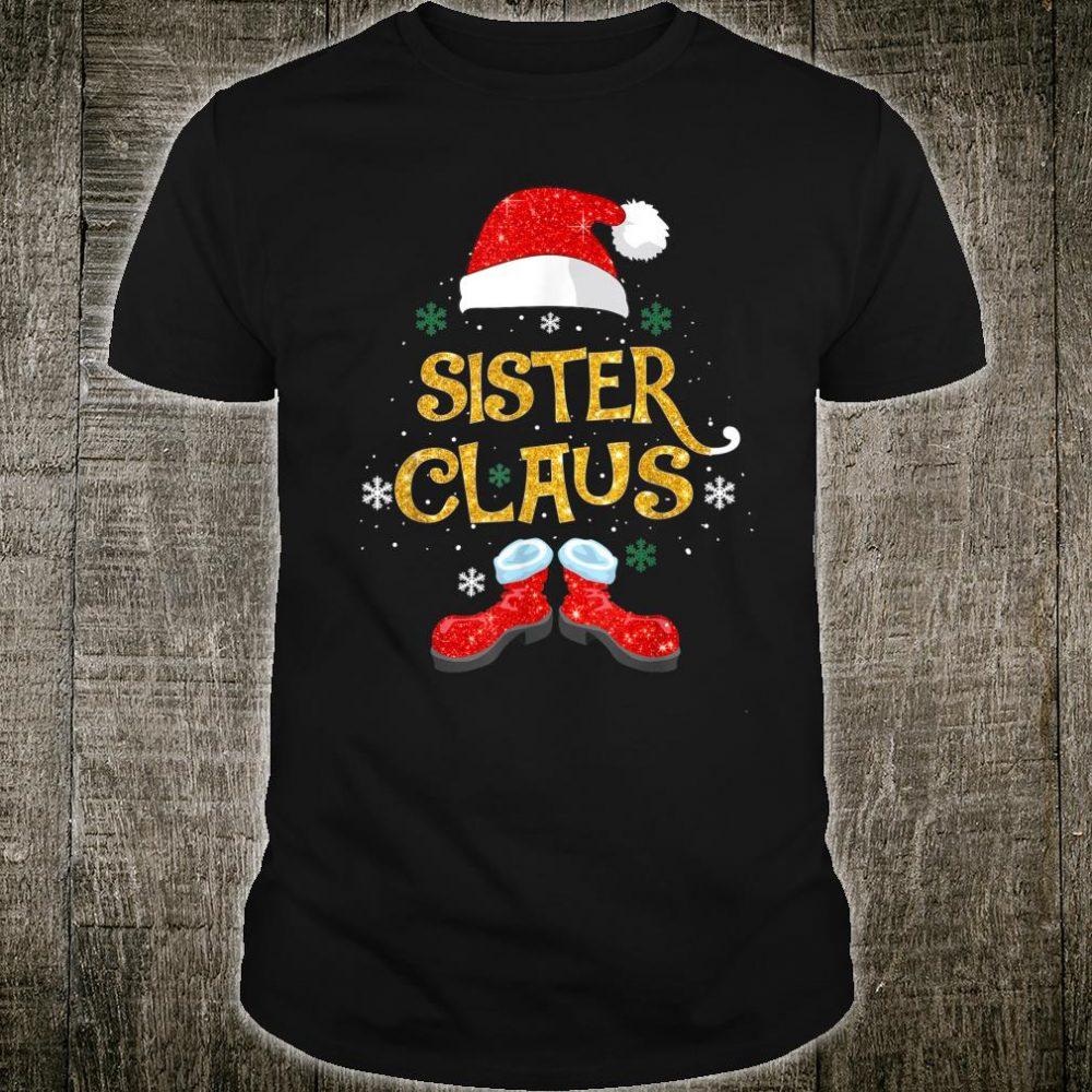 Merry Santa Sister Claus Christmas Family Matching Group Shirt