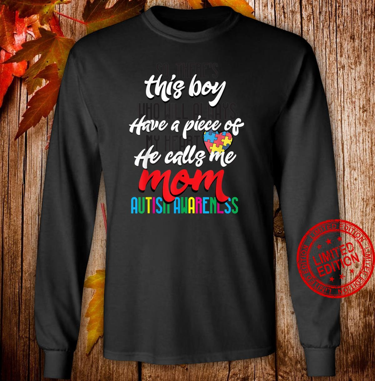 Mom Autism Awareness Day Cool Mothers of Autism Boy Shirt long sleeved