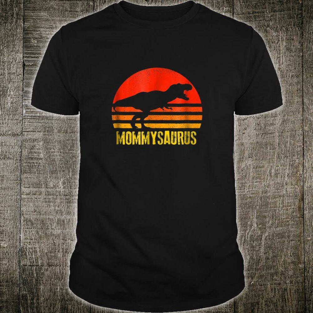 Mommysaurus Vintage Sunset Dinosaur Shirt