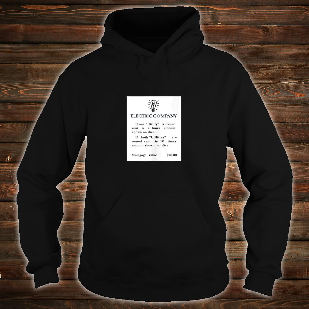 Official Monopoly Electric Company Card Shirt, hoodie, tank top and sweater