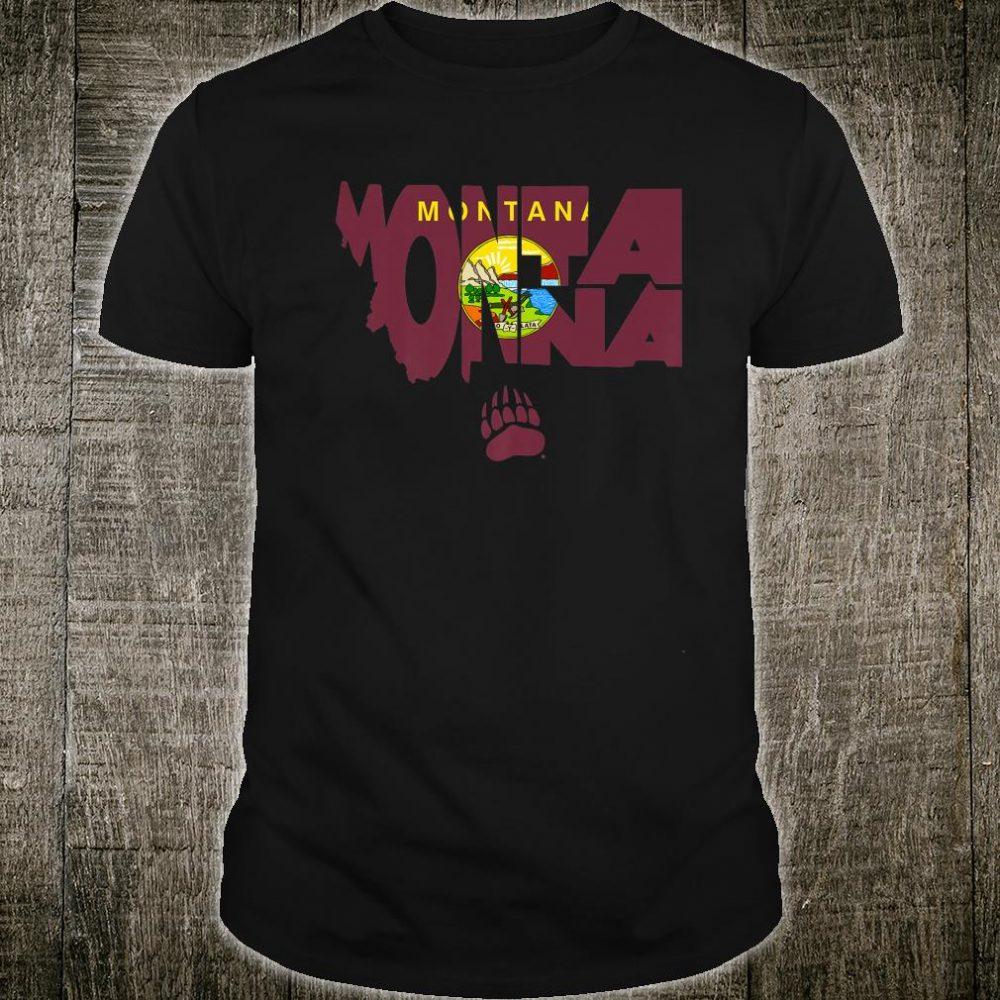 Montana Grizzlies State Flag Apparel Shirt