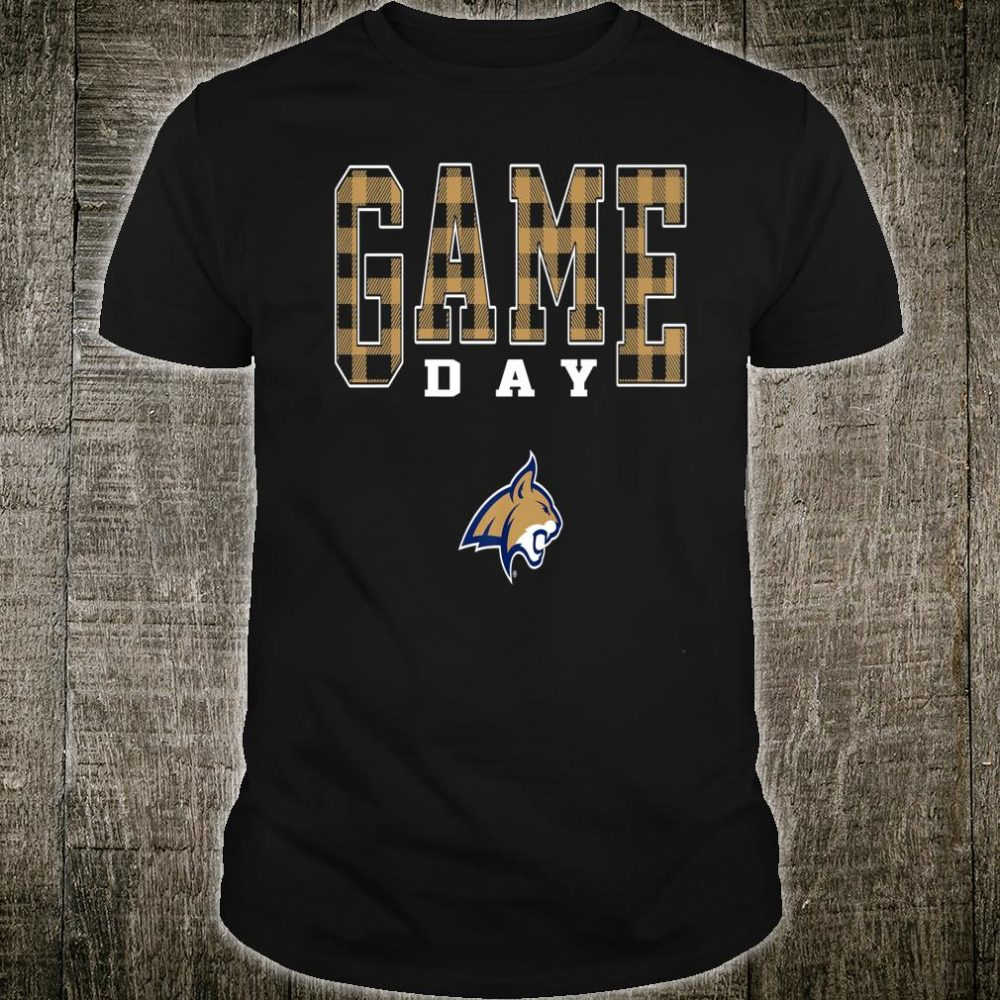 Montana State Bobcats Game Day Checked Pattern Team Shirt