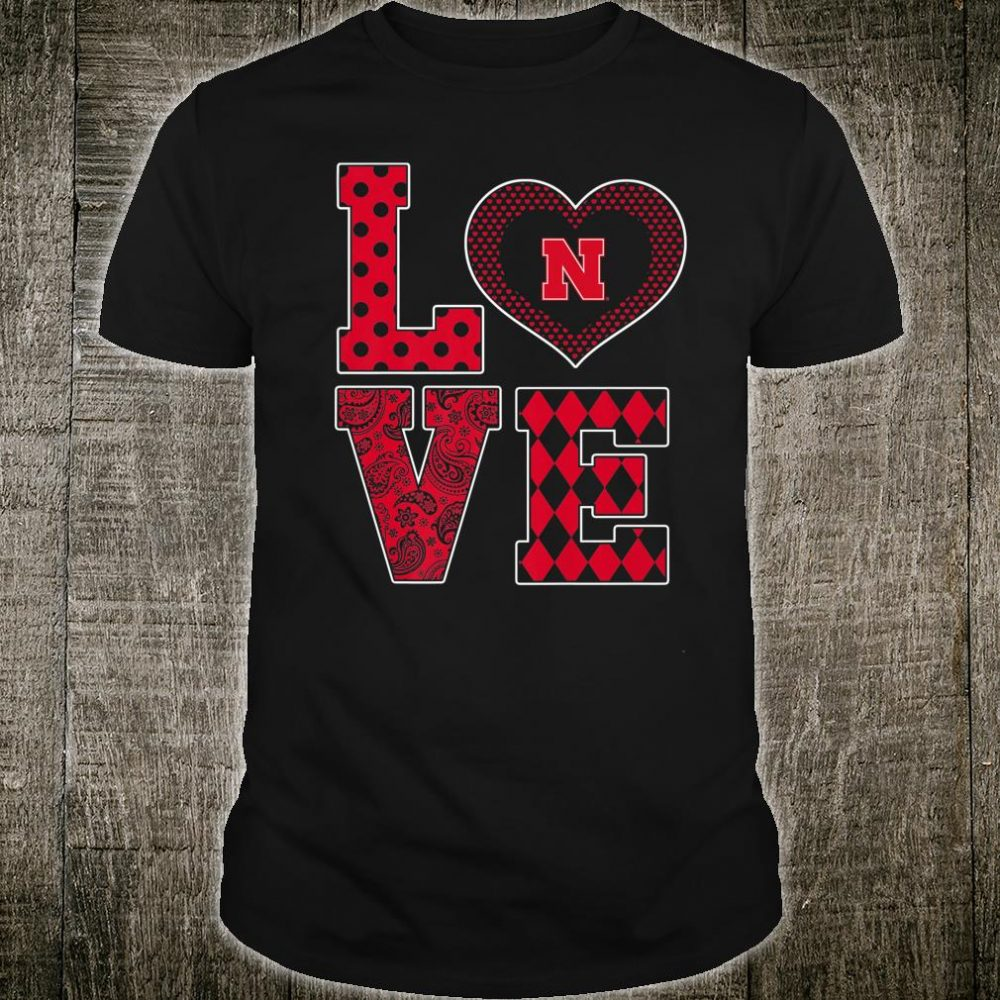 Nebraska Cornhuskers Stacked Love Apparel Shirt