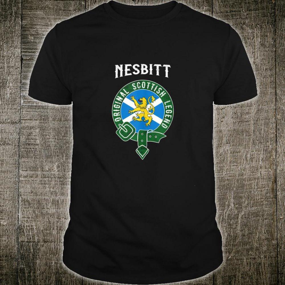 Nesbitt Clan Scottish Legend Scotland Flag Belt Shirt