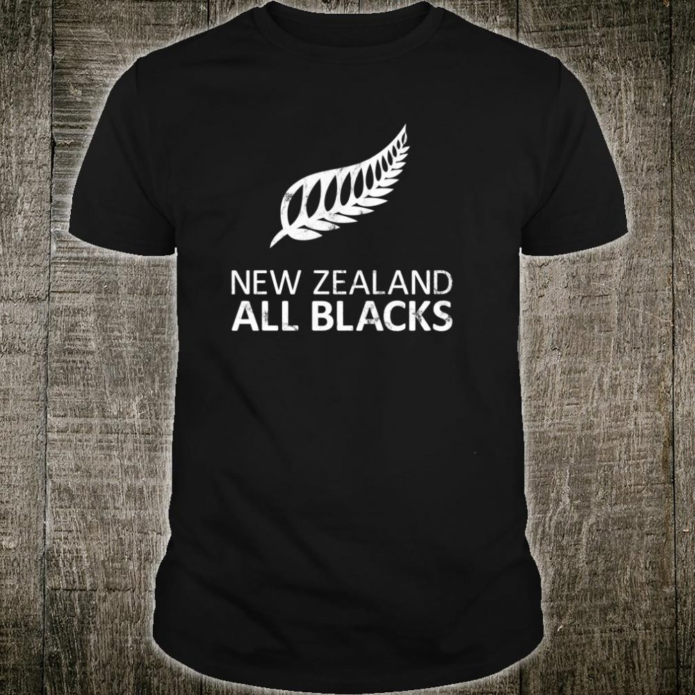 New Zealand Fern For Rugby Fans distressed look Shirt