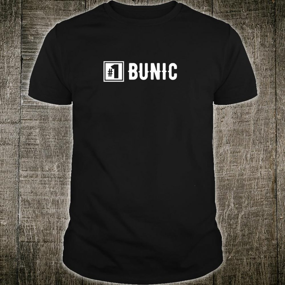 Number 1 Bunic Grandpa Shirt