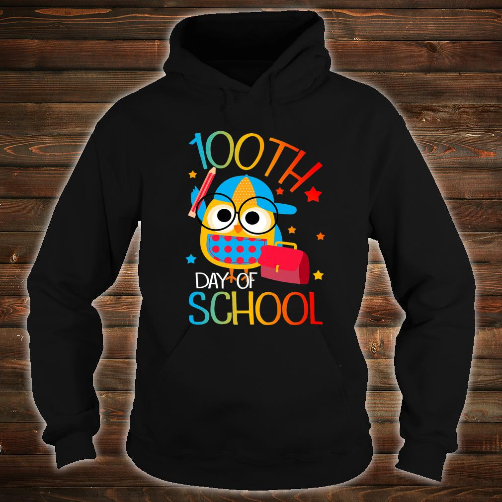 OWL Cute 100th Day of School For Teacher & Student Kid Shirt hoodie