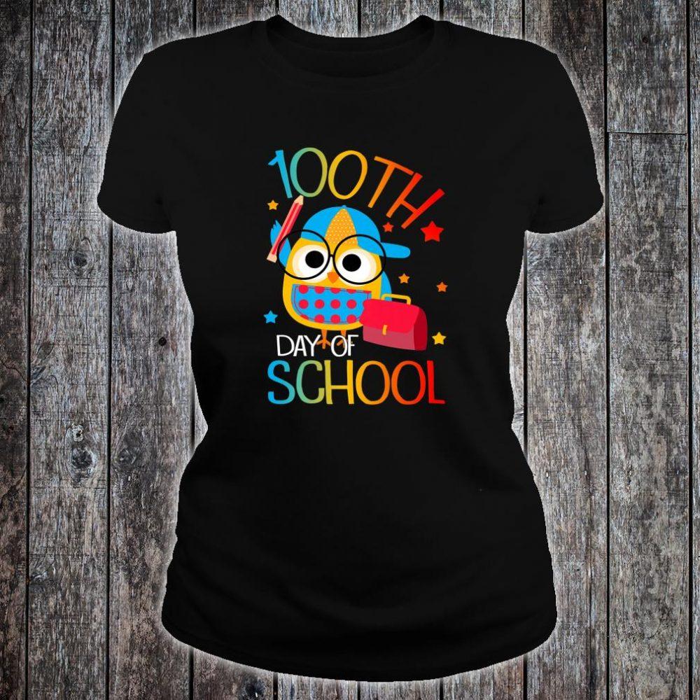 OWL Cute 100th Day of School For Teacher & Student Kid Shirt ladies tee