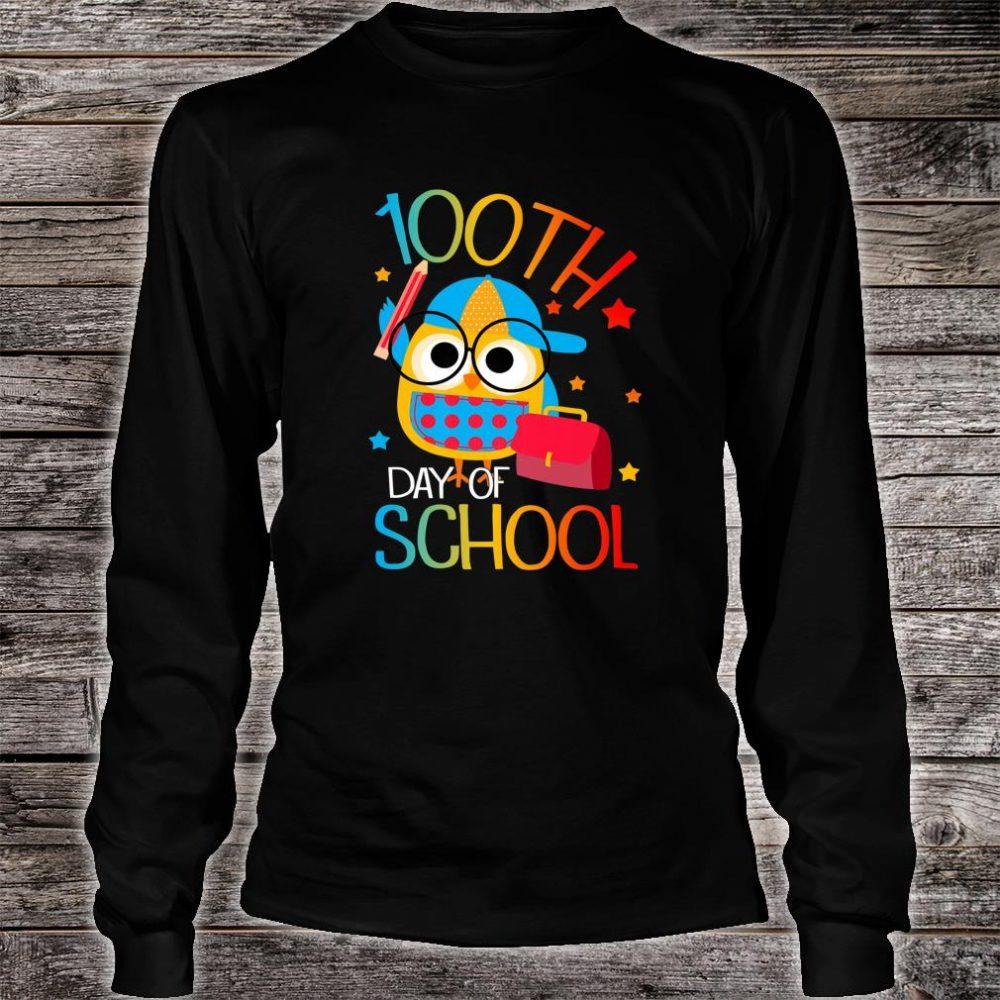 OWL Cute 100th Day of School For Teacher & Student Kid Shirt long sleeved