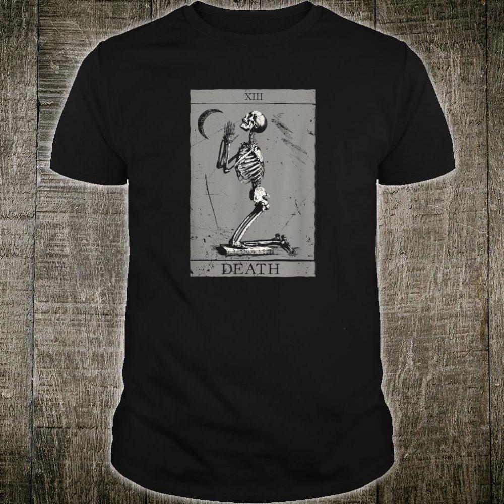Occult The Death Praying Skeleton Vintage Tarot Esoteric 666 Shirt