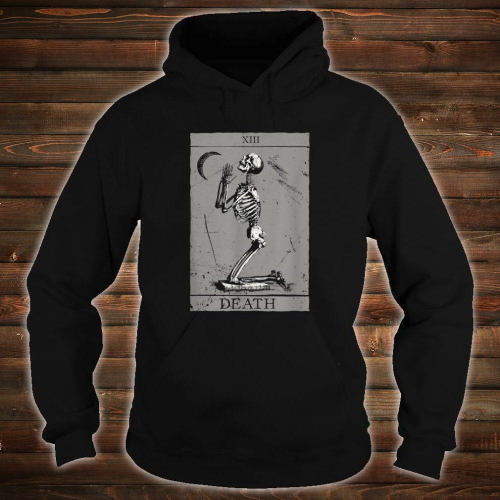 Occult The Death Praying Skeleton Vintage Tarot Esoteric 666 Shirt hoodie