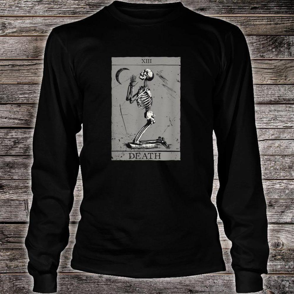 Occult The Death Praying Skeleton Vintage Tarot Esoteric 666 Shirt long sleeved