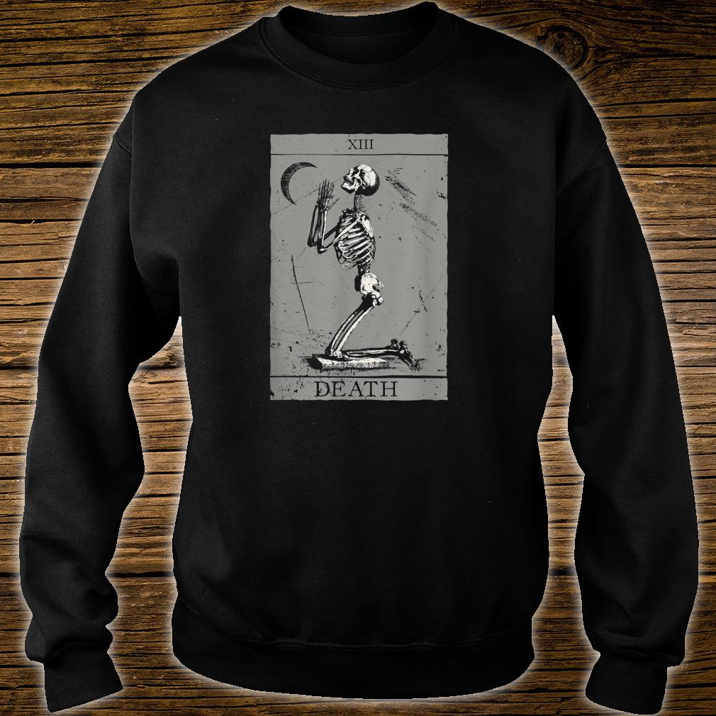 Occult The Death Praying Skeleton Vintage Tarot Esoteric 666 Shirt sweater