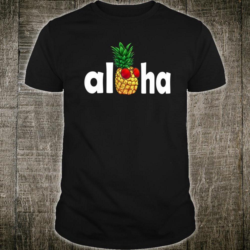 Pineapple Hawaiian Hawaii Aloha Pineapple Sunglasses Hawaii Shirt