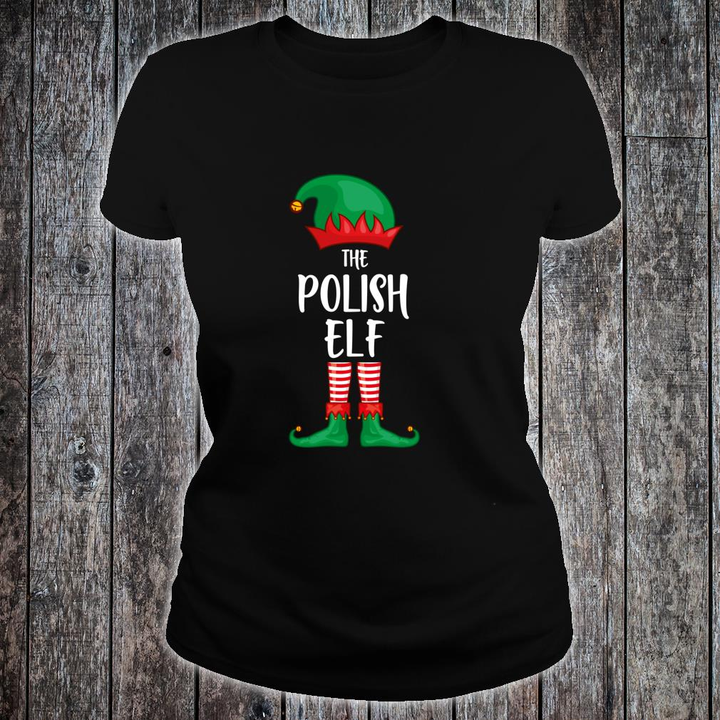 Polish Elf Christmas Party Matching Family Group Pajama Shirt ladies tee