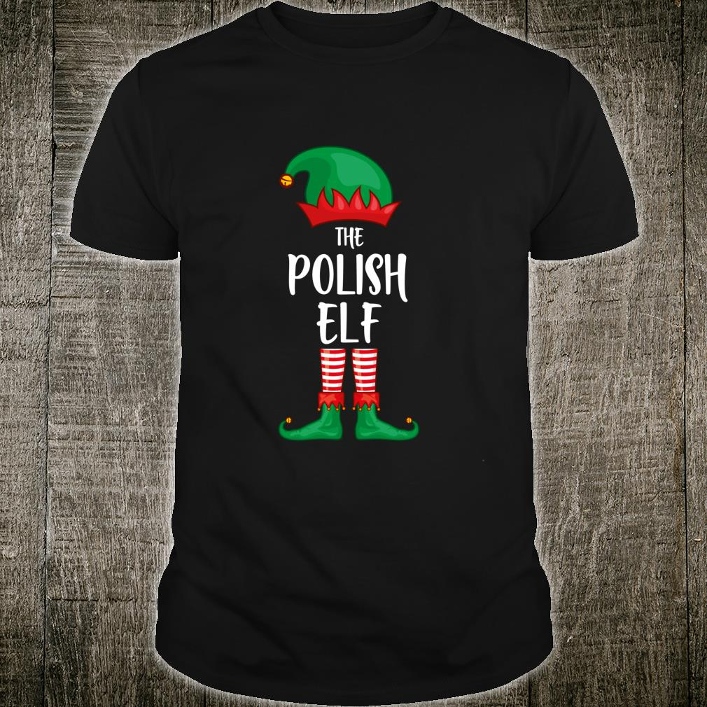 Polish Elf Christmas Party Matching Family Group Pajama Shirt
