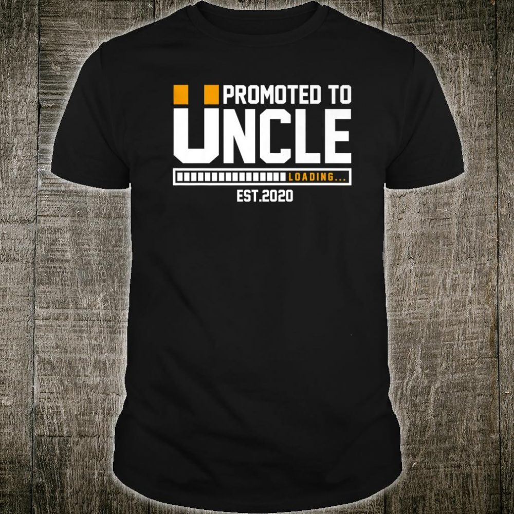 Promoted to Uncle Est 2020 Loading Future New Dad Baby Shirt