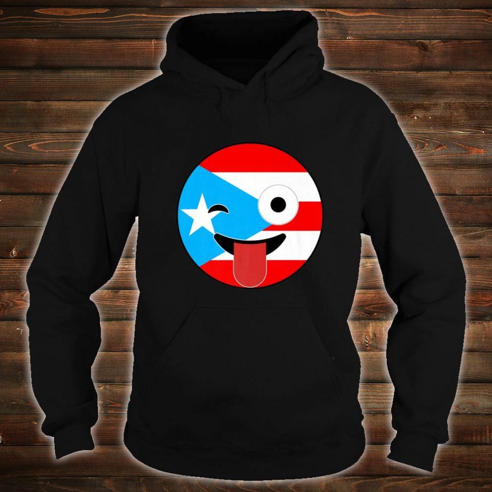 Puerto Rico Souvenirs Crazy Face Emoji Puerto Rico Flag Shirt hoodie