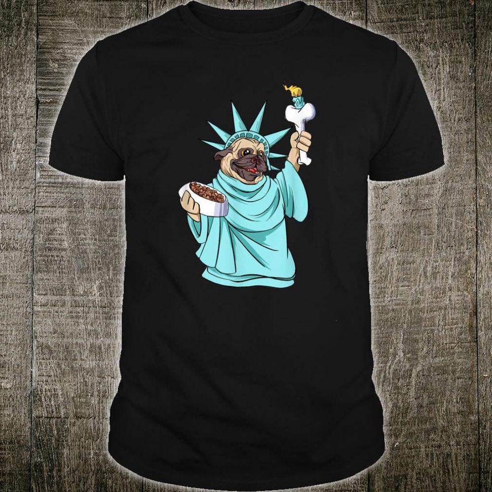 Pug Statue Of Liberty 4th Of July Patriotic Dog Shirt