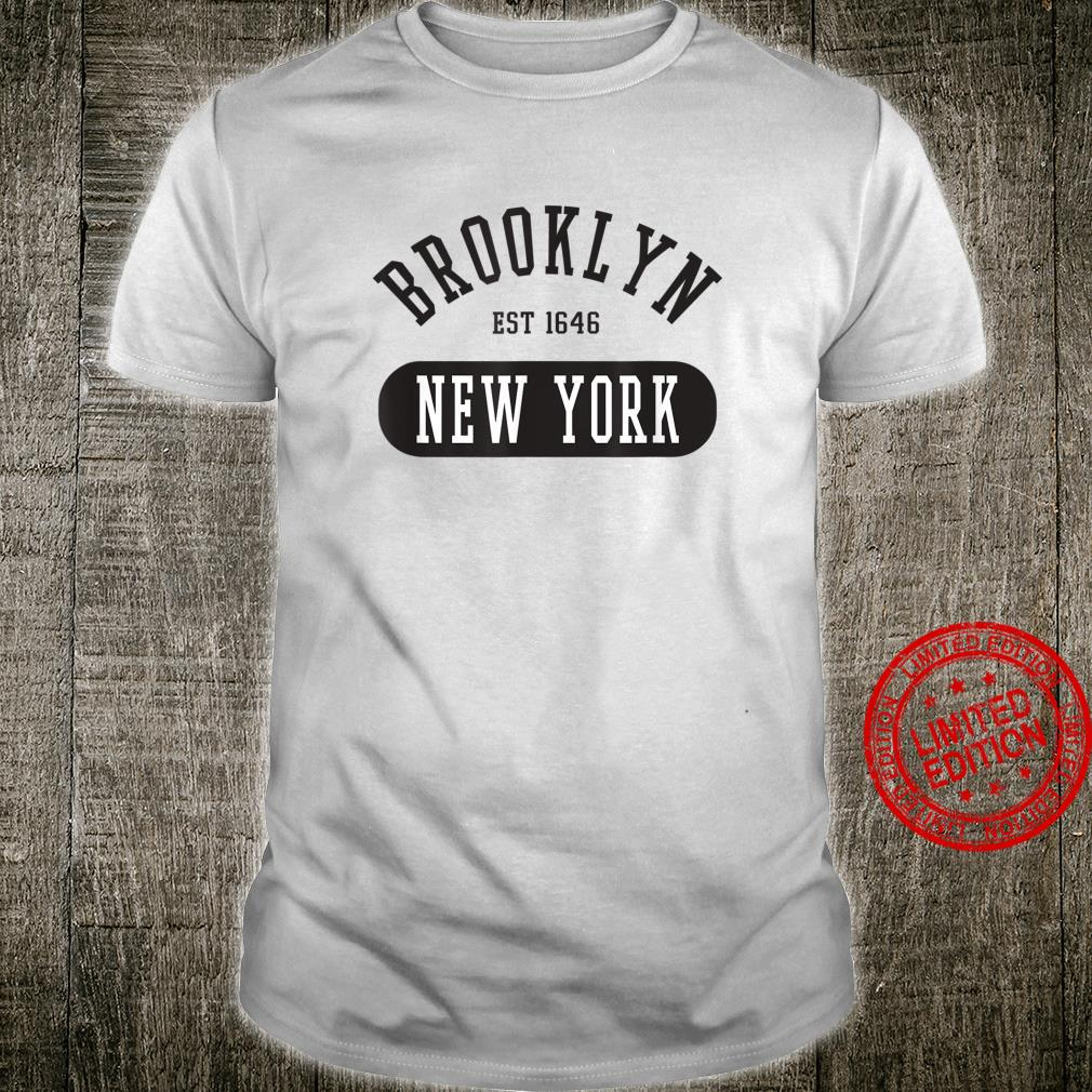 Retro Cool Vintage Brooklyn New York College Jersey Style Shirt