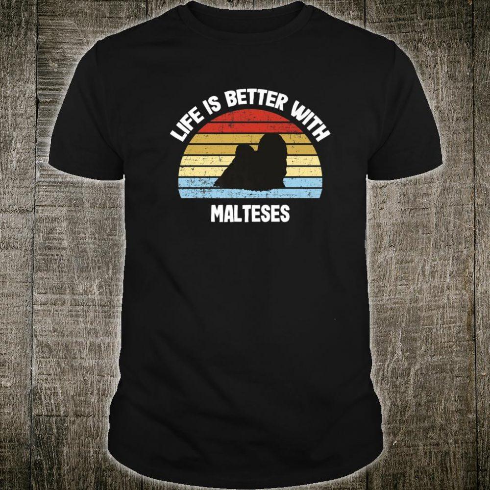 Retro Maltese Dog Shirt