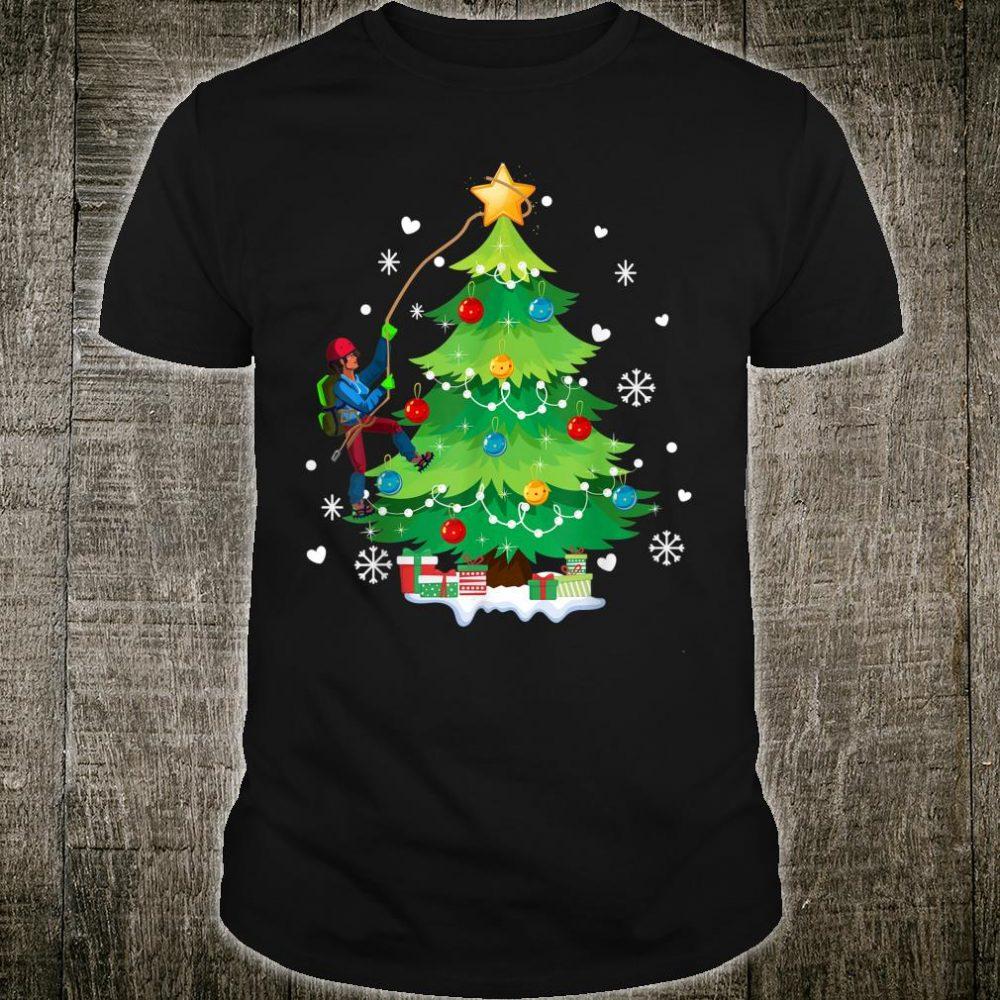 Rock Climbing Christmas Tree Xmas For Climber Shirt