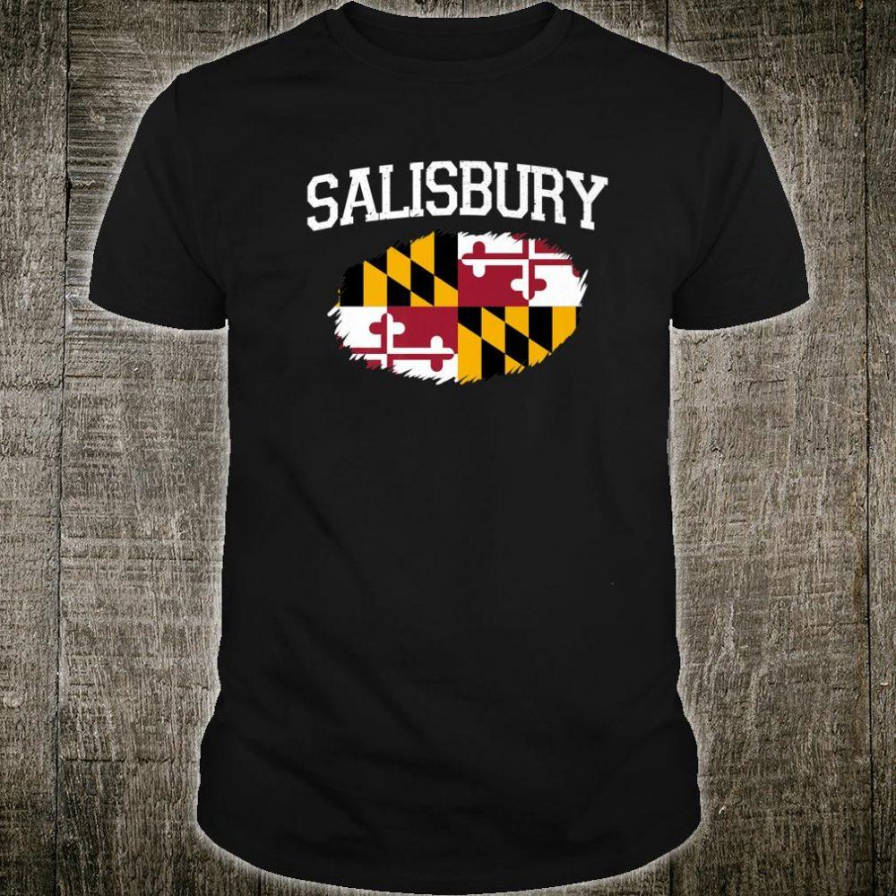 SALISBURY MD MARYLAND Flag Vintage USA Sports Shirt