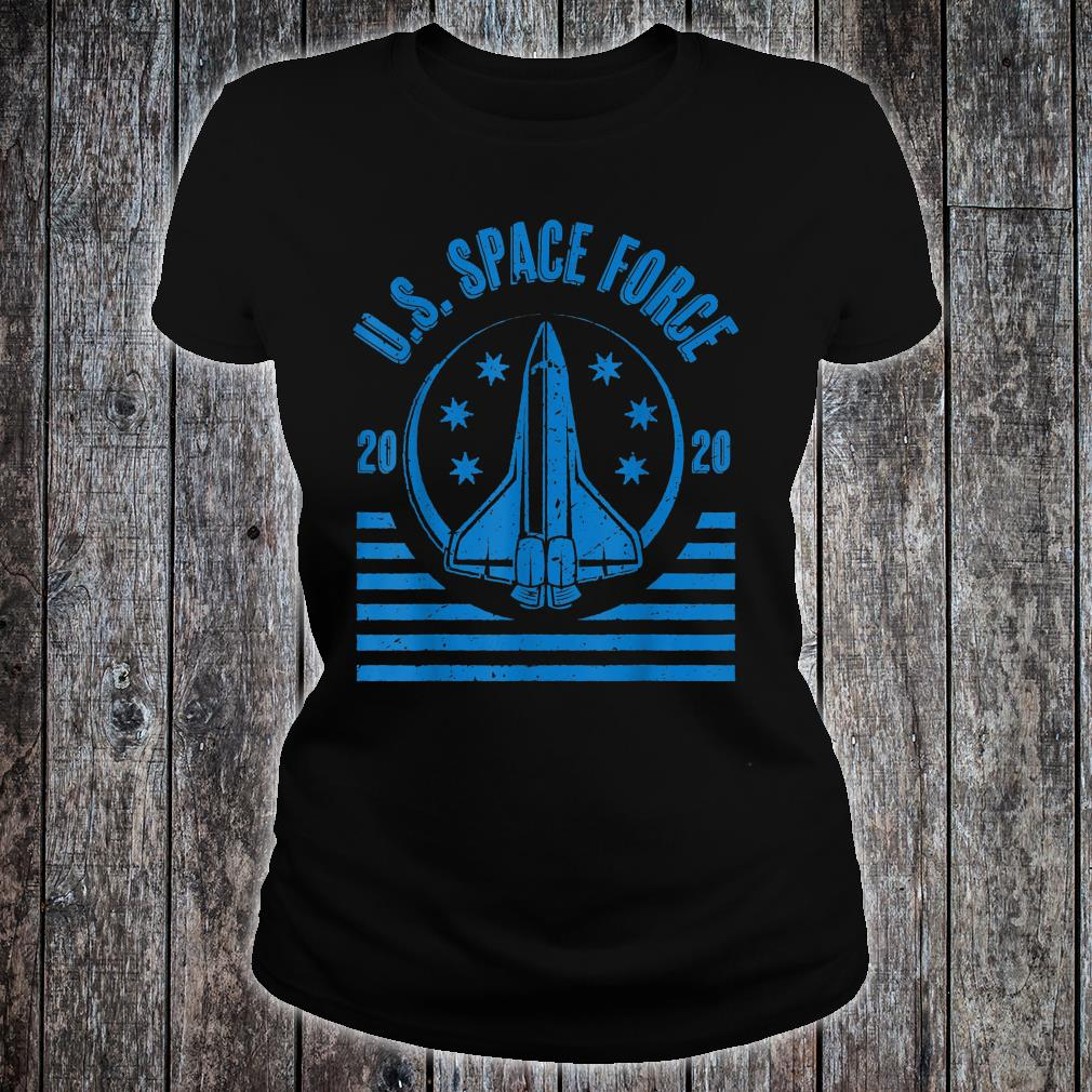 SPACE FORCE LOGO U.S. UNITED STATES MILITARY FORCE USSF Shirt ladies tee