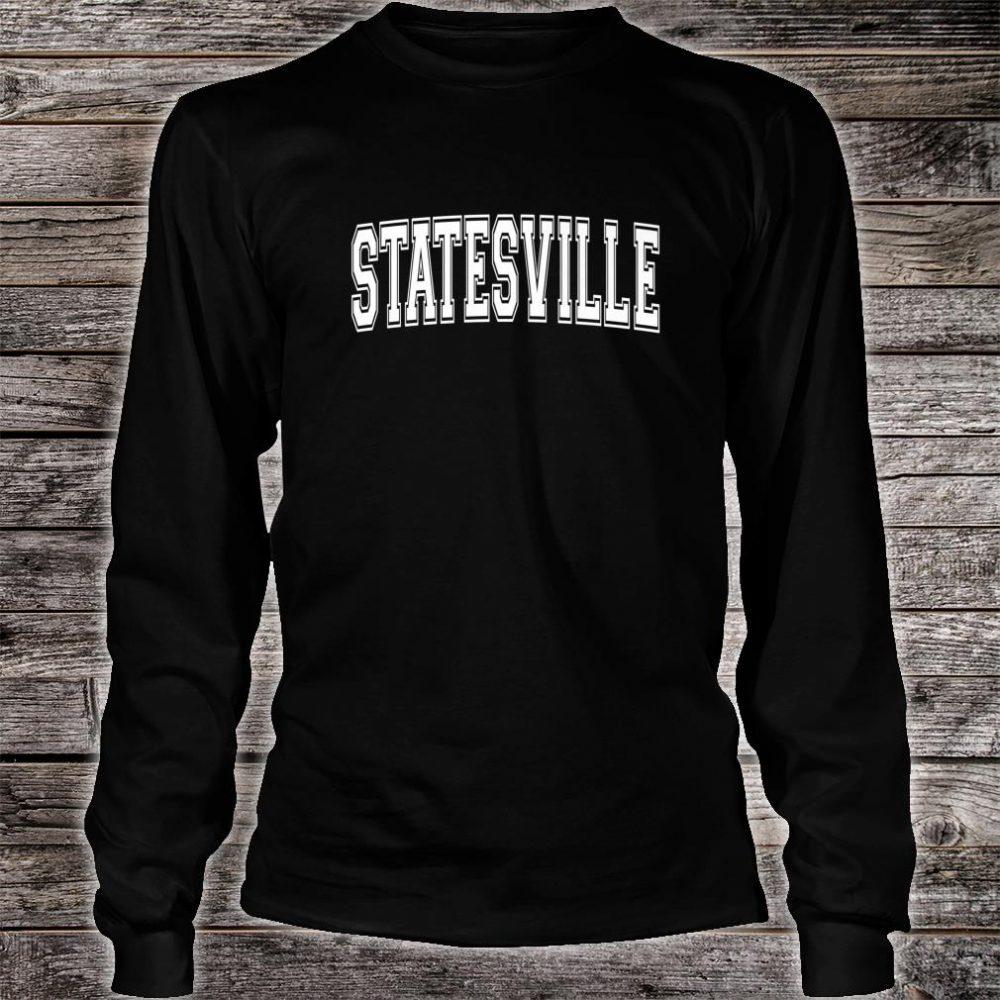 STATESVILLE NC NORTH CAROLINA Vintage Sports Varsity Style Shirt long sleeved