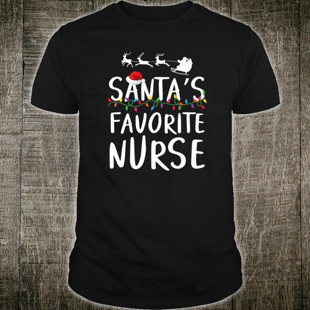 Santa's favorite nurse Cute Christmas Party Pajama Shirt