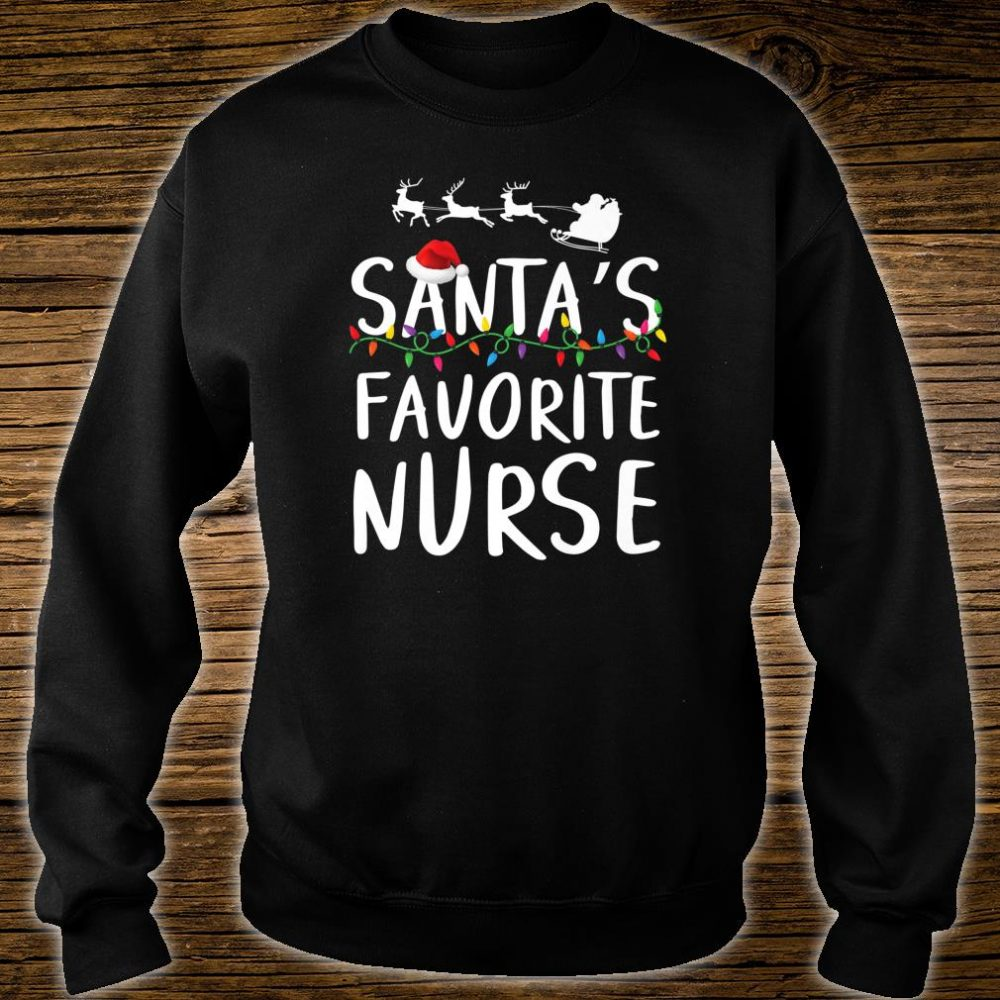 Santa's favorite nurse Cute Christmas Party Pajama Shirt sweater