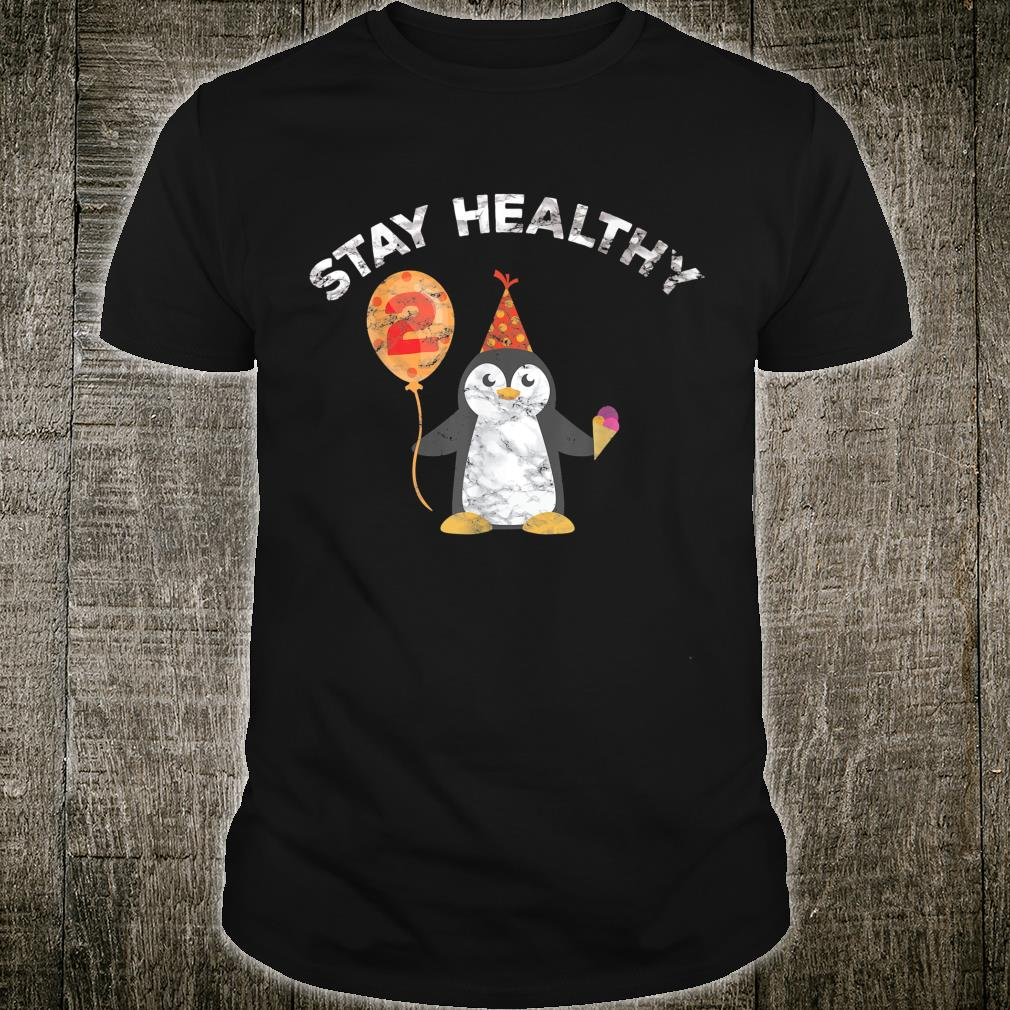 Second Birthday Party 2 Years Old Health Gift Illness Shirt