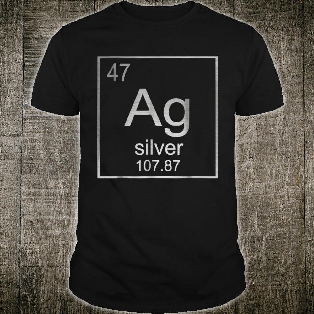 Silver Chemical Element Ag Symbol Shirt