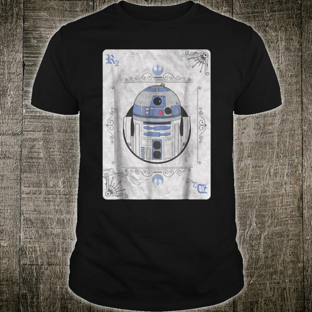Star Wars R2D2 Vintage Playing Card Style Shirt