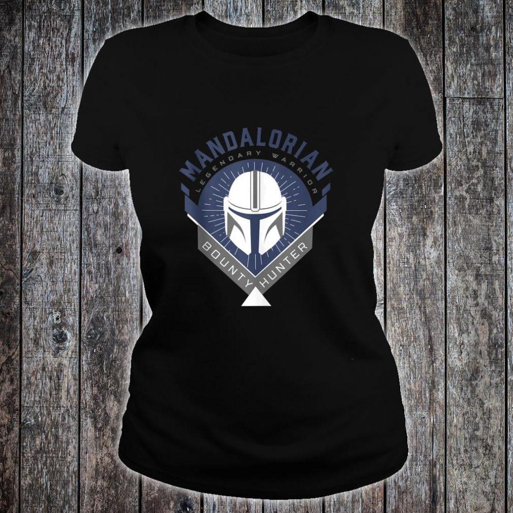 Star Wars The Mandalorian Legendary Warrior Crest Shirt ladies tee