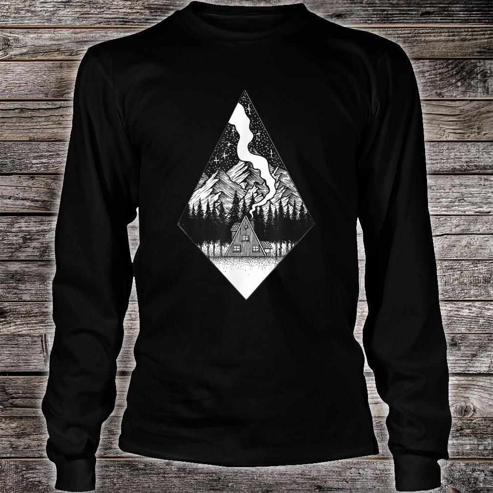 Starry Night Nature Camping Aesthetic Grunge Best Shirt long sleeved