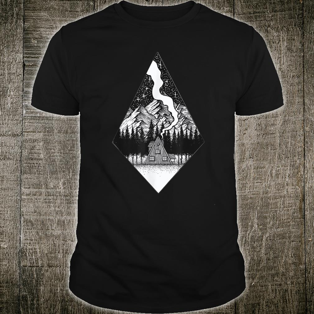 Starry Night Nature Camping Aesthetic Grunge Best Shirt