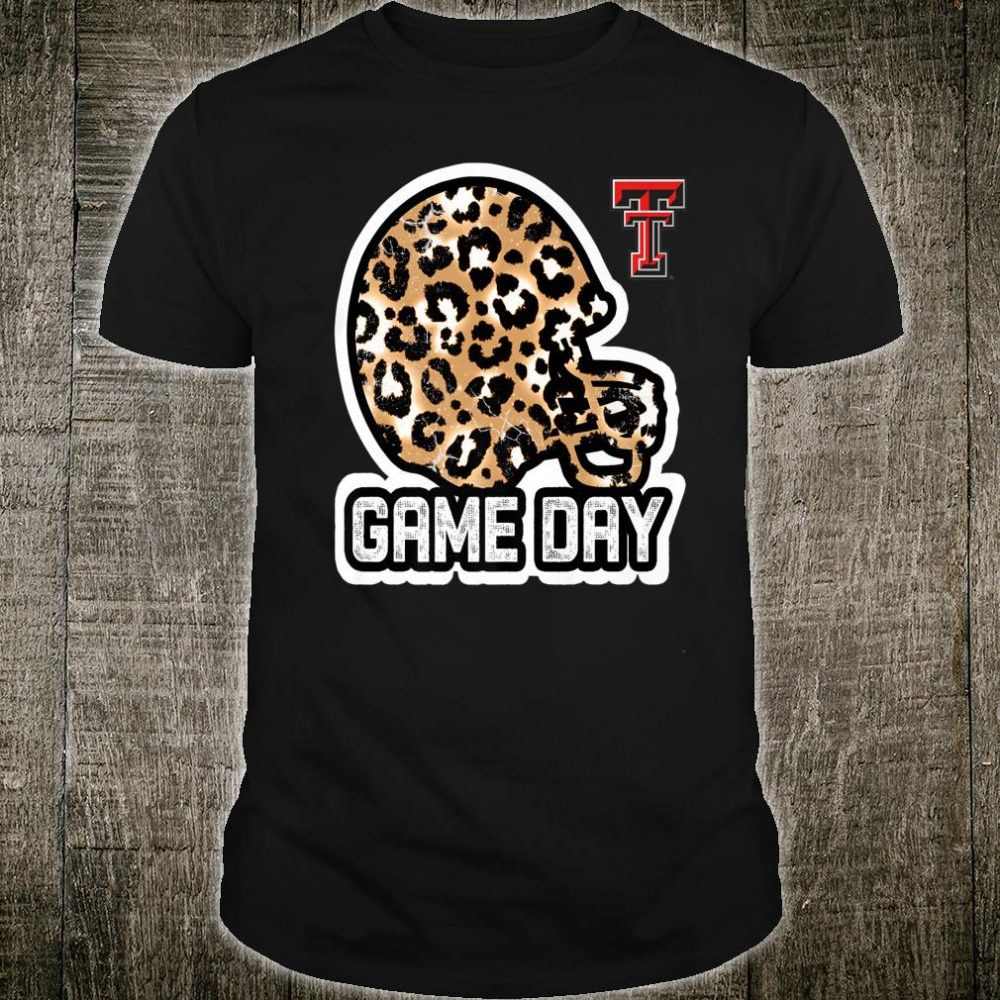Texas Tech Red Raiders Game Day Helmet Leopard Shirt