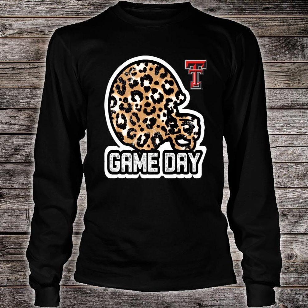 Texas Tech Red Raiders Game Day Helmet Leopard Shirt long sleeved