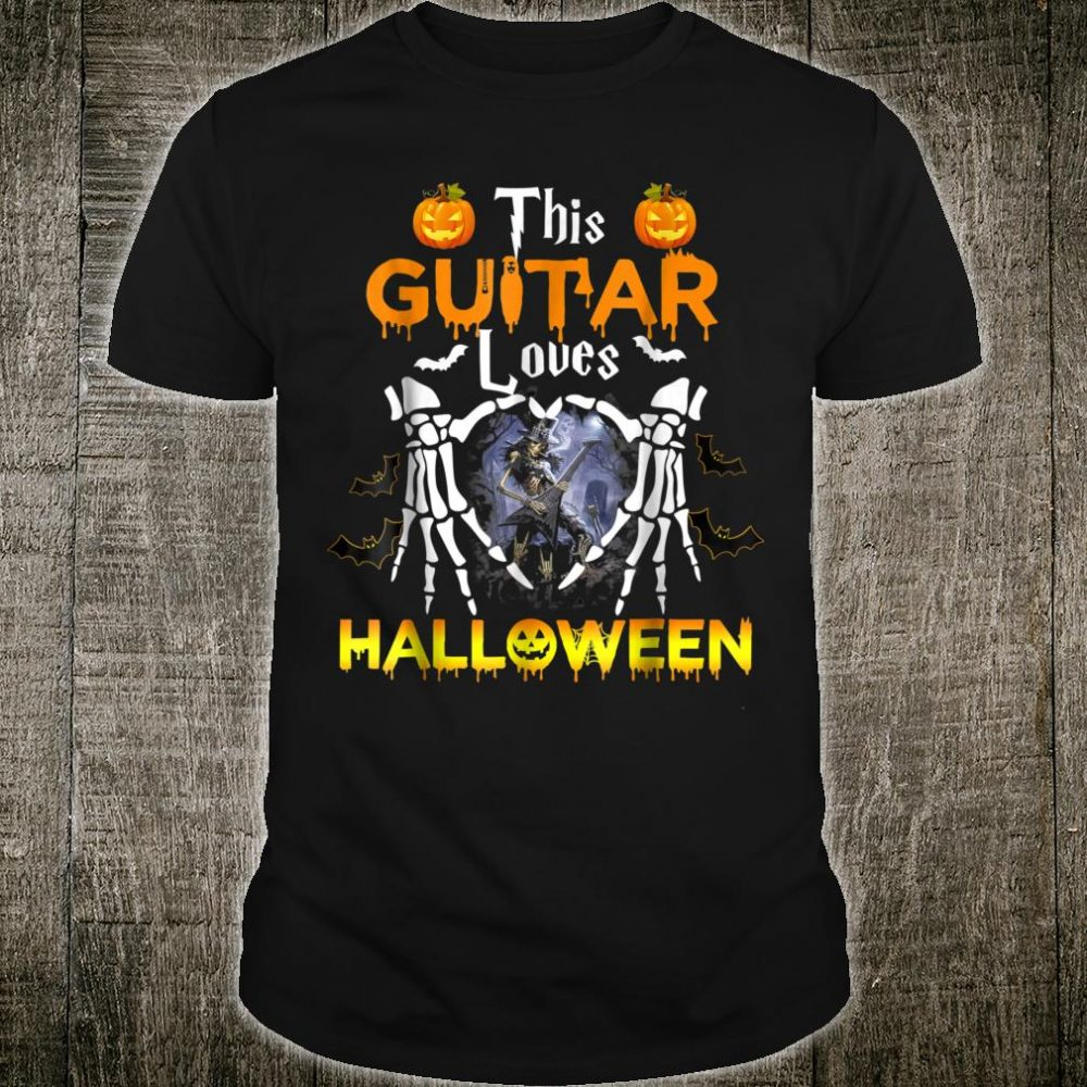 This Guitar Loves Halloween Shirt