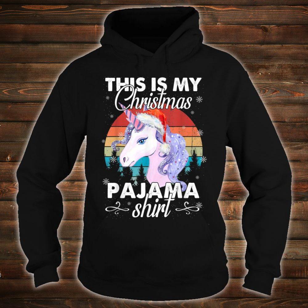 This Is My Christmas Unicorn Pajama Shirt hoodie