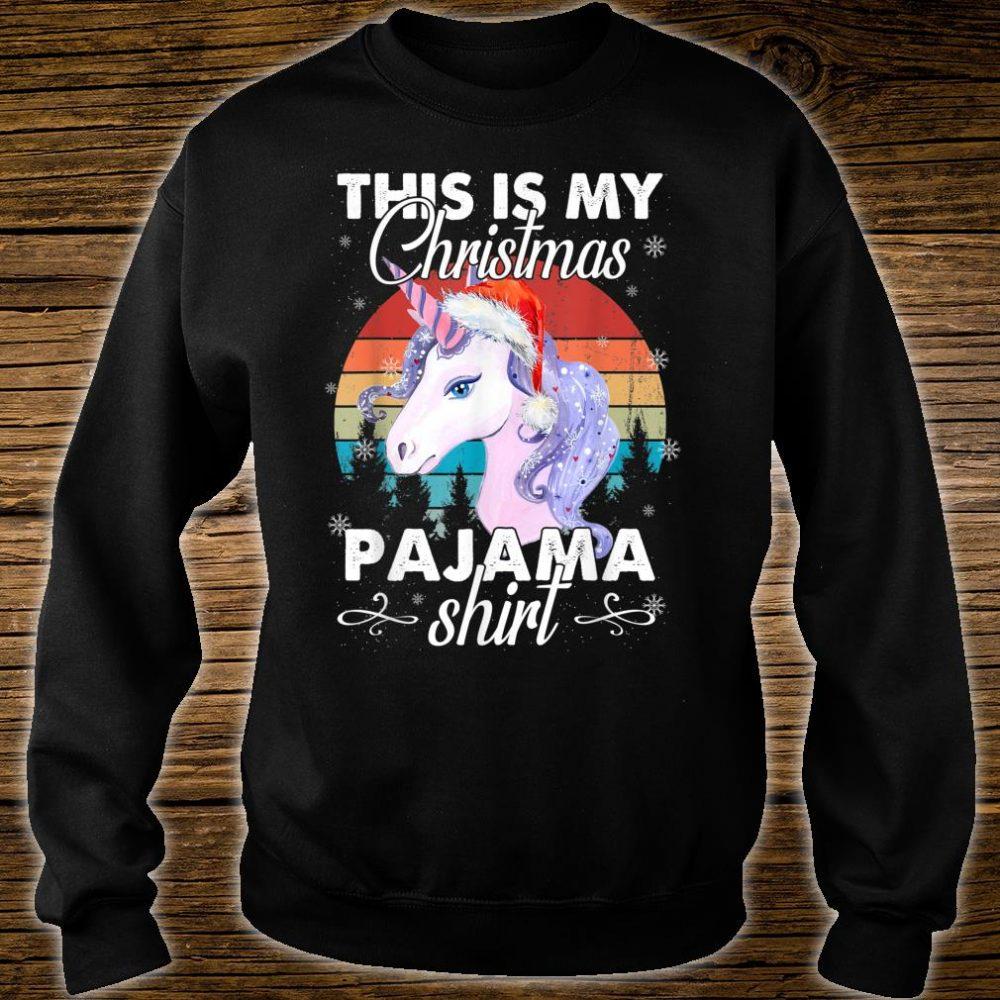 This Is My Christmas Unicorn Pajama Shirt sweater